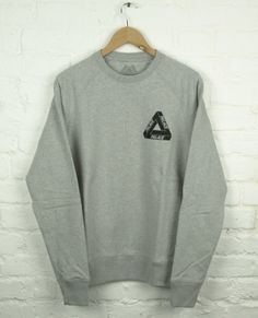 Palace Fleece Crew Grey 120$
