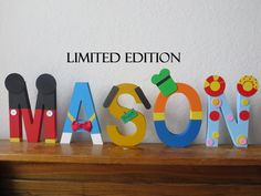 LIMITED EDITION Mickey Mouse Clubhouse Block by TheLetterBug, $13.00