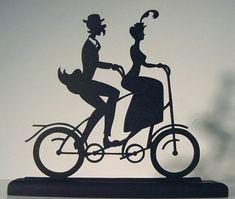 vintage tandem silhouette