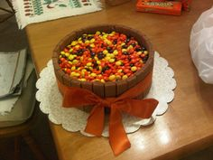Reese pieces cake!