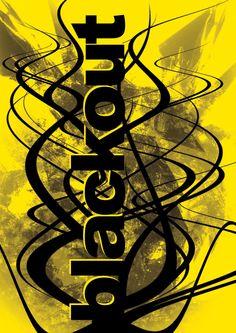 blackout / digital graphic / print 100x70cm