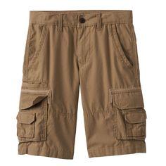 Boys 8-20 Urban Pipeline® Canvas Cargo Shorts, Boy's, Size: 14, Med Beige