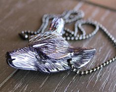 Check out our stone wolf necklace selection for the very best in unique or custom, handmade pieces from our shops. Wolf Necklace, Stone Necklace, Wolf Jewelry, Cool Necklaces, Stones And Crystals, Crystal Jewelry, Cufflinks, Jewelry Making, Pendant