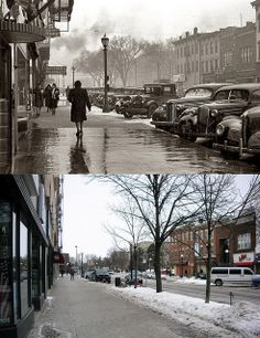 Great now and then pictures from downtown!
