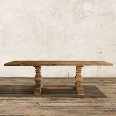 Kensington Extension Dining Table In Barnwood Natural | Arhaus Furniture