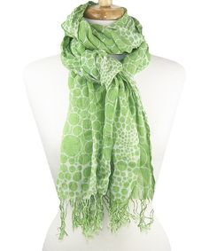 Look what I found on #zulily! Green Vibrant Bubbles Scarf by Tickled Pink #zulilyfinds