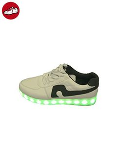 [Present:kleines Handtuch]Schwarz High-Top EU 37, Aufladen für Herren Unisex-Erwachsene JUNGLEST® LED Leuchtend Sport Sportschuhe Damen (TM) 7 Farbe Snea