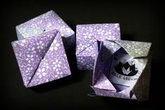 Mille gru di carta (blog in Italian) - How to fold an Origami box with one sheet of paper