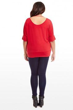 Plus Size Merry Dolman Top | Fashion To Figure