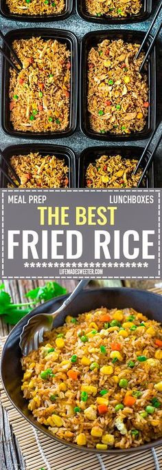Absolutely the BEST Chinese Fried Rice – the perfect easy weeknight dish. With t… Absolutely the BEST Chinese Fried Rice – the perfect easy weeknight dish. With t…,meals Absolutely the BEST Chinese Fried Rice. Low Carb Meal, Healthy Meal Prep, Healthy Eating, Weekly Meal Prep, Easy Lunch Meal Prep, Simple Meal Prep, Stir Fry Meal Prep, Veggie Meal Prep, Best Meal Prep