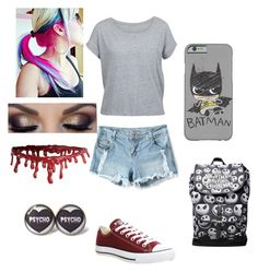 """""""OOTD"""" by fluffypunkk on Polyvore featuring Converse"""