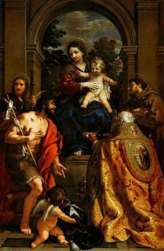 Pierre de Cotone, Vierge à l'enfant 1628  Histoire de l'art - Les mouvements dans la peinture - L'art baroque