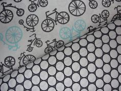 Carseat Cover In MIchael Millers Bicycle in haze with a gray circles background