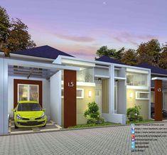 Desain Rumah Minimalis Perumahan Griya Mas Sidoarjo - 3D Tampak Type 55