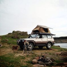 https://flic.kr/p/e3k1wh | Toyota Land Cruiser with Roof Top Tent
