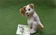 Handmade miniature teddy bear,2.5in tall,fabric plush toys,white teddy bear,collectible artist bear,tiny bear,plush teddy bear,dollhouse toy by PTOlove on Etsy