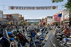 Sturgis, SD - home of the Sturgis motorcycle rally...where you can truly say you've seen everything!