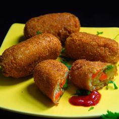 Bread Rolls, Recipe, Indian Food recipe, Vegetarian recipe