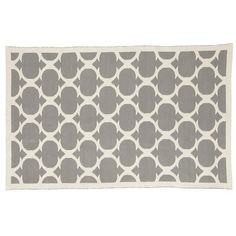The Land of Nod | Kids Rugs: Grey Woven Wool Patterned Rug in All Rugs
