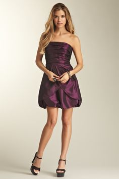 Jessica Simpson Pleated Bubble Cocktail Party Dress on HauteLook