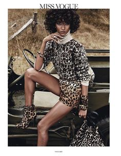 Leopard On Leopard Looks With A Safari-Inspired Twist From Vogue Paris | WhoWhatWear.com