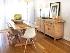Beachwood Furniture - 4 drawer 4 door elm sideboard