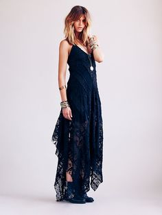 Free people Fp One Cast Away Gown in Blue (Black)