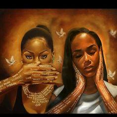 Words Never Spoken by Salaam Muhammed Black Love Art, Black Girl Art, Art Girl, African American Artwork, African Art, Dancing Drawings, Haitian Art, Black Art Pictures, Black Artwork