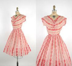 "The ""peppermint candy stripe"" dress from Dalena Vintage.  Gorgeous!"