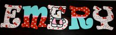 hello kitty nursery name letters