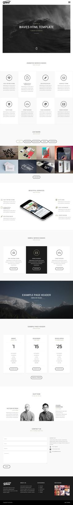 Waves is Premium full Responsive Retina #Multipurpose template. One Page. #VideoBackground. #Isotope. Bootstrap 3 Framework. Test free demo at: http://www.responsivemiracle.com/cms/waves-premium-responsive-fullscreen-video-html5-template/