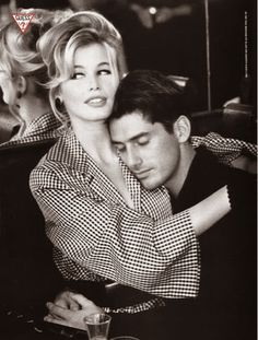 Nick Constantino and Claudia Schiffer for Guess, 90' | Bluetramontana Style