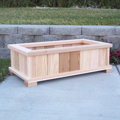 Outdoors Discover Wood Country Cedar Planter Box Finish: Unstained Size: H x W x D Cedar Planter Box Garden Planter Boxes Plastic Planter Boxes Patio Planters Window Planter Boxes Wooden Planters Cedar Furniture Diy Garden Furniture Furniture Ideas Planter Box Plans, Cedar Planter Box, Garden Planter Boxes, Patio Planters, Window Planter Boxes, Diy Wooden Planters, Raised Planter Boxes, Vegetable Planters, Rectangular Planter Box