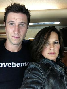 """A pinner writes """"I don't know how I feel about this picture yet.. But, at the same time he's wearing a #savebenson shirt. He almost killed her."""""""