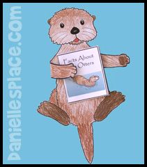 Otter holding a Book About Otter Craft for Kids from www.daniellesplace.com