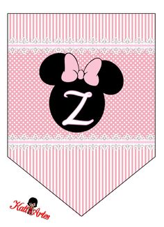 Has A - Z  Banners----EUGENIA - KATIA ARTES - BLOG DE LETRAS PERSONALIZADAS E ALGUMAS COISINHAS: Bandeirolas Minnie rosa