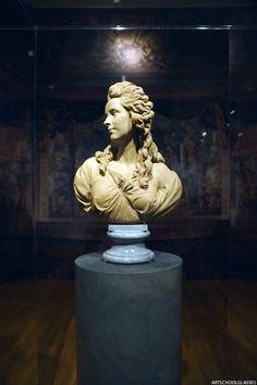 Bust of Elisabeth Vigee-Lebrun by Augustin Pajou (tumblr Art School Glasses)