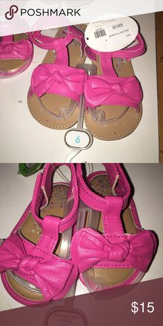 Hot Pink Sandal Hot pink sandal by Baby Deer with a bow on the front Baby Deer Shoes Sandals & Flip Flops