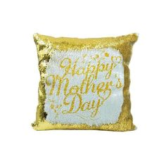 Personalised custom printed Gold Sequin Cushion cover - 40 x with your text Sequin Cushion, Cushion Covers, Pillow Cases, Sequins, Cushions, Throw Pillows, Printed, Gold, Ebay