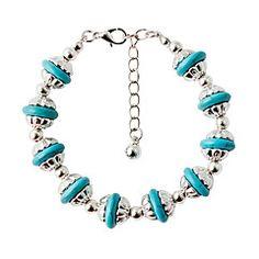 F&U Metal Fashion Vintage Bohemia Silver charm National style TibetanTurquoise Stretch bracelet Jewelry women Cheap Bracelets, Cute Bracelets, Stretch Bracelets, Fashion Bracelets, Bangle Bracelets, Fashion Jewelry, Women Jewelry, Bangles, Vintage Turquoise Jewelry