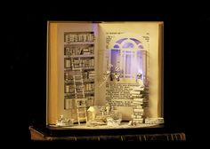 Post The Most Beautiful Examples Of Book Sculptures The Paper House - Handmade Book Sculpture By Karine Diot Paper Book, Paper Art, Book Crafts, Paper Crafts, Altered Book Art, Handmade Books, Handmade Notebook, Handmade House, Handmade Items