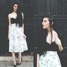 Get this look: http://lb.nu/look/7561792  More looks by Holynights Claudia: http://lb.nu/holynights  Items in this look:  Chic Wish Skirt   #romantic #chicwish #floralskirt