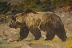 Carl Clemens Moritz Rungius (1869-1959), detail from Humpback Grizzly
