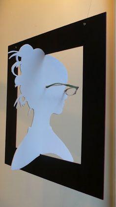 Window display by artist Natalie Agnes Edwards
