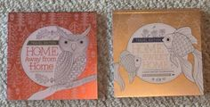 Lot of 2 New Travel Edition hand crafted Adult Coloring Books. Both books have different content including birds/butterflies/hummingbirds/ dragonflies, fish/frogs/squirrels, food/pretty cutlery,mixed drinks/wine, beaches/nautical/seashells, flowers/gardens, etc. themes. These books are a bit heavier than the average similar product; paper has a nice weight and tooth. High quality printing with perforated pages, printed single sided, for easy removal and display, and a hard cardboard back.