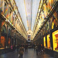 Galeries St Hubert, Brussels. where i work from time to time :D