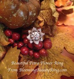 The Large Crimson Rose Flower Diamond Engagement Ring – Engagement Ring Photos, Engagement Sets, Engagement Ring Settings, Diamond Engagement Rings, Rose Wedding Rings, Flower Rings, Thing 1, Right Hand Rings, Anniversary Rings