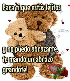 Varios Teddy Bear Quotes, Spanish Greetings, Rainbow Falls, Important Quotes, Love Facts, Love Phrases, Good Night Quotes, Morning Messages, Spanish Quotes