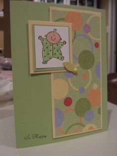 Baby card by jill031070 using Stampin' Up! Baby Firsts stamp set.