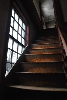 I picture kids running up the stairs to the attic, sitting and playing on stairs. would love a shot of kids going up to attic trailing their blankies behind them.